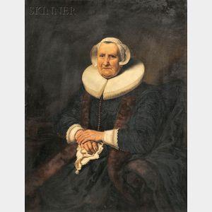 Dutch School, 17th Century Style      Portrait of a Woman