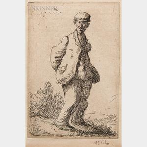 Augustus Edwin John (Welsh, 1878-1961)      The Idiot