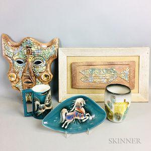 Five Pieces of Sascha Brastoff Pottery
