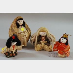 Four Japanese Female Dolls