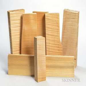 Five Violin Backs, One Neck Block, and One Top.