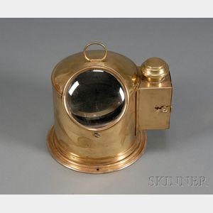 Brass Binnacle Helmet Compass by Henry Browne & Son, Ltd.
