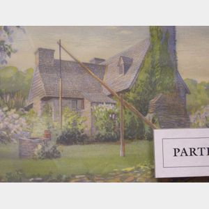 Lot of Two Framed Block Prints Including: The Henry Whitfield House