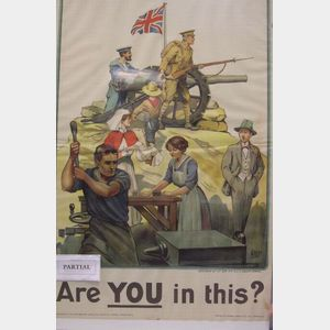 Five British WWI Lithographed Recruiting Posters