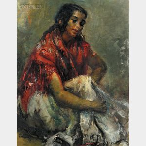 Gumersindo Sainz de Morales (Spanish, 1900-1976)      Seated Woman