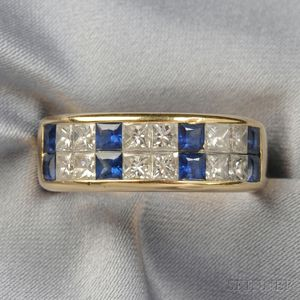 18kt Gold, Sapphire, and Diamond Band, Christopher Designs