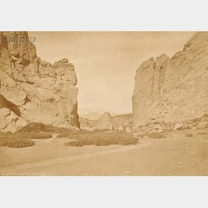 William Henry Jackson (American, 1843-1942) Two Views of the American West: Gateway of the Garden of the Gods, Colorado, Pikes Peak...