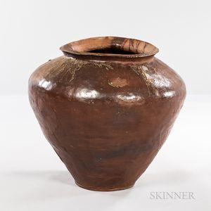 Monumental Woodfired Ash-glazed Jar, Tsubo