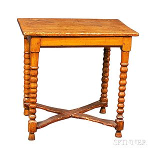 Country Turned Pine Table