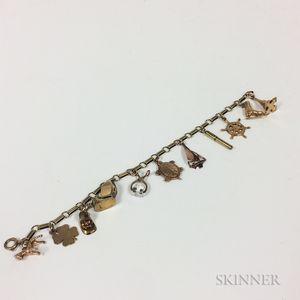 14kt Gold Charm Bracelet