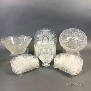 Twenty-seven Pieces of Lalique Glass