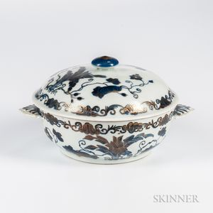 Export Blue and White Covered Dish