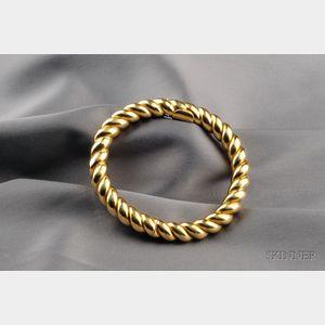 18kt Gold Bangle Bracelet