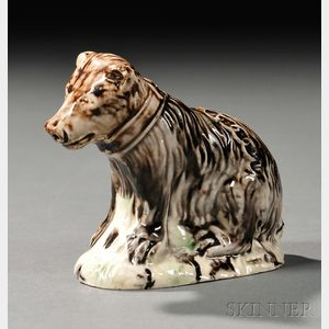 Staffordshire Lead-glazed Creamware Model of a Bear