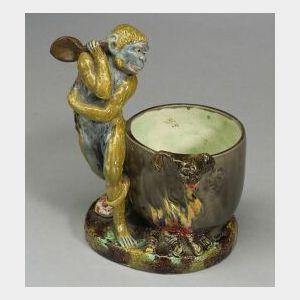 Minton Majolica Glazed Figure