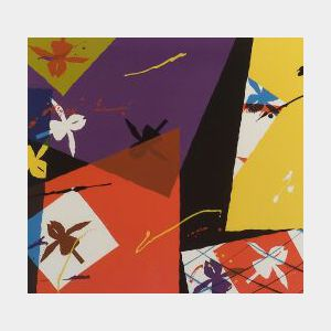 Billy Al Bengston (American, b. 1934)  Untitled/Composition With Iris
