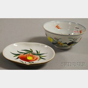 Two Asian Enameled Porcelain Items