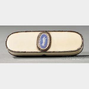 Wedgwood Jasper-mounted Ivory Patch Box