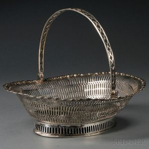 George III Reticulated Silver Basket