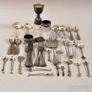 Group of Assorted Mostly Sterling and Coin Silver Tableware and Flatware