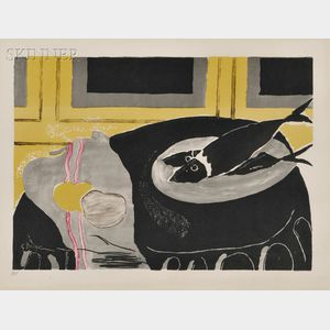 After Georges Braque (French, 1882-1963)      Still Life with Fish.
