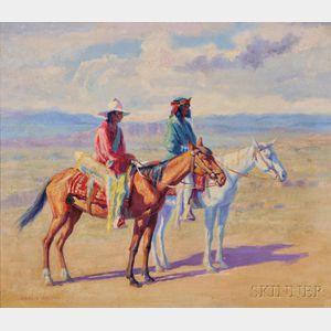 Henry C. Balink (American, 1882-1963)      Indians on Horseback