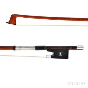 French Silver-mounted Violin Bow, Eugene Sartory