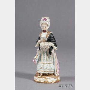 Meissen Porcelain Figure of a Lady