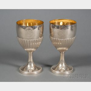 Pair of George III Silver Goblets