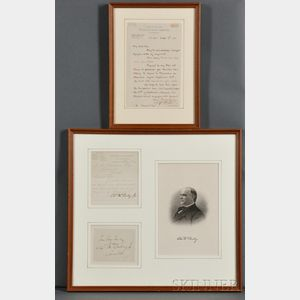 Chester A. Arthur (1830-1886) and William McKinley (1844-1901) Signed Correspondence.