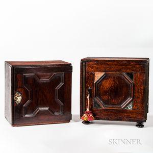 Two Oak Spice Boxes