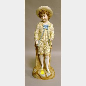 French Bisque Figure of a Boy in Fancy Dress