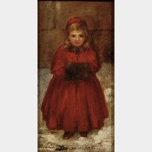 Marie Louise Chapin  (American, 1843-1898)      Portrait of a Young Girl with a Muff
