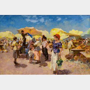 Witman Etelka Vizkeleti (Hungarian, 1882-1962)      Market Scene