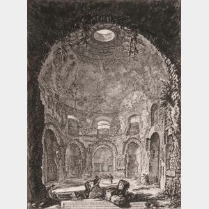 Giovanni Battista Piranesi (Italian, 1720-1778)      Veduta interna del Tempio della Tosse