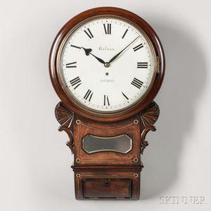 Gilson Mahogany Dial Clock