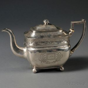 George III Irish Silver Teapot