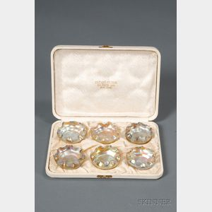 Cased Set of Six Tiffany Favrile Master Salts