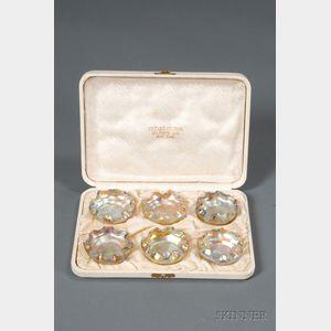 Cased Set of Six Tiffany Favrile Master Salts