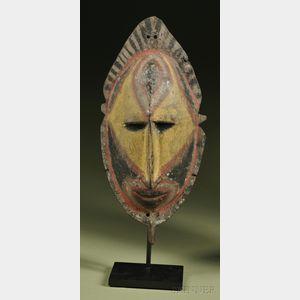 New Guinea Polychrome Carved Wood Mask