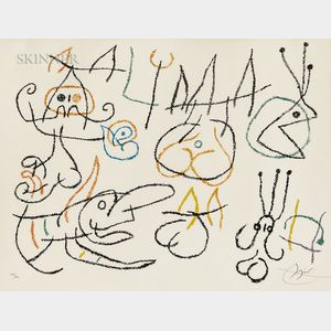 Joan Miró (Spanish, 1893-1983)      Plate   from Ubu aux Baléares