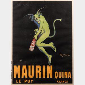 Leonetto Capiello (French, 1875-1942)      Maurin Quina Le Puy France