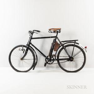 Antique Swiss Black-painted Messenger Bike