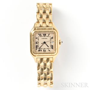 "18kt Gold ""Panthere"" Wristwatch, Cartier"