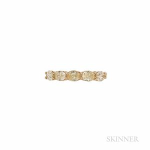 18kt Gold and Colored Diamond Ring