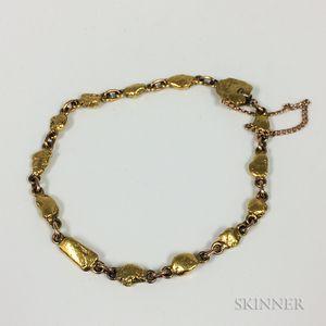14kt Gold Nugget Bracelet