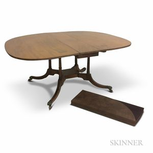 Regency-style Inlaid Mahogany Drop-leaf Dining Table