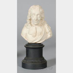 Turner White Stoneware Bust of Milton