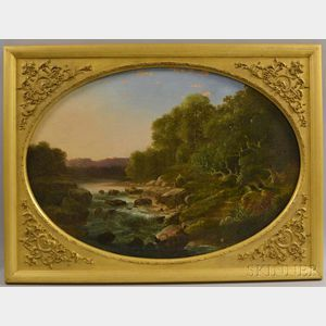 Attributed to Ambrose Andrews (American, 1805-1859)      Wilderness Rapids