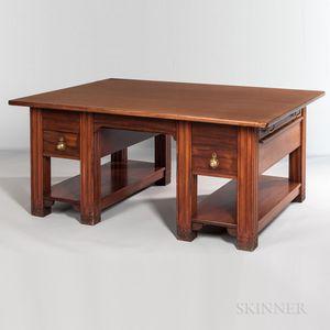 A.H. Davenport & Company Mahogany Partners' Desk